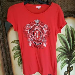 Juicy Couture red t-shirt with diamonds